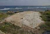pic of synagogue  - Detail of the mosaic floor in the ancient synagogue of Caesarea - JPG