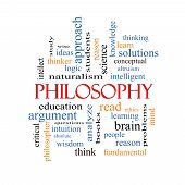 stock photo of thinker  - Philosophy Word Cloud Concept with great terms such as education study thinker and more - JPG