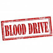 stock photo of blood drive  - Grunge rubber stamp with text Blood Drive - JPG