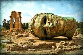 foto of greek-architecture  - Agrigento Sicily - JPG