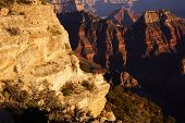 stock photo of zoroaster  - Brahma Temple and Zoroaster Temple North Rim Grand Canyon National Park Arizona - JPG