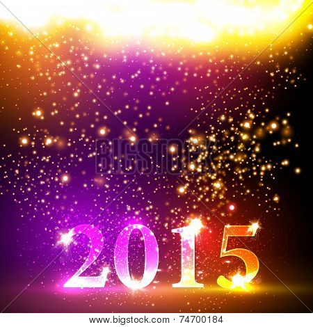 Happy new year 2015 colorful celebration vector design