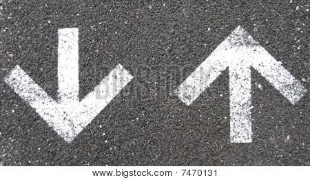 Asphalt With Arrows