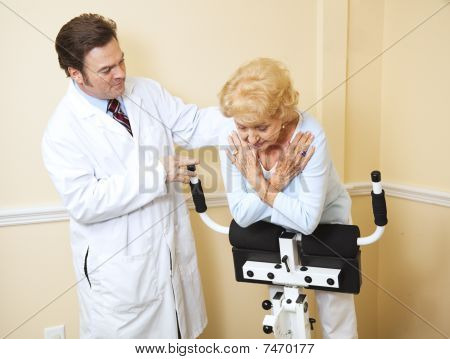 Senior Woman Physical Therapy