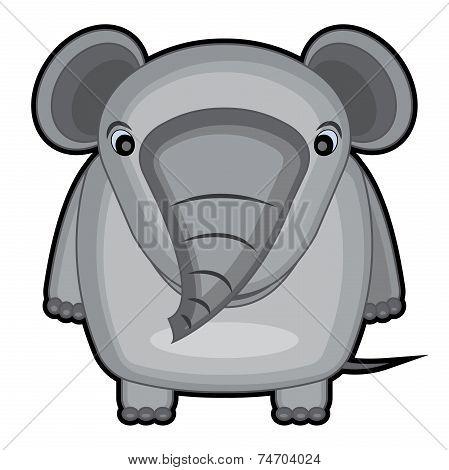 cartoon illustration of a baby elephant