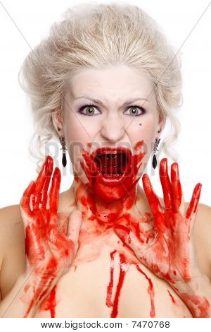 Bloody Crying Woman