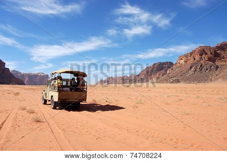 Safari In Wadi Rum Desert, Jordan.