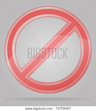 Transparent Prohibition Sign Vector Illustration