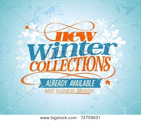 New winter collections design. Eps10