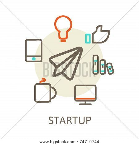 start up  Trendy Illustrations for new businesses