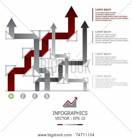 Modern Weaving Arrows Business Infographic Design Template