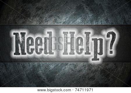 Need Help Concept
