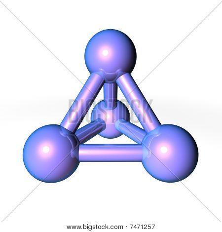 Molecule Structure Metallic Blue-purple