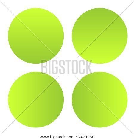 Green Eco Buttons