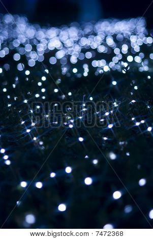 Defocused Blue Light Effect Against Black Background