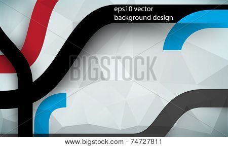 eps10 vector geometric triangular and bent thick lines business background