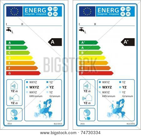 Heat pump water heaters new energy rating graph label