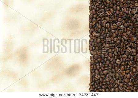 Caffe Edition, Coffee Beans On Old Paper