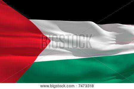 Waving Flag Of Palestine
