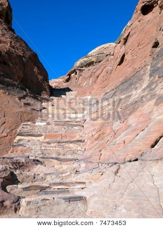 Passage Wall Texture In Petra, Jordan