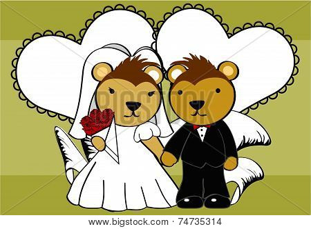 porcupine married cartoon background