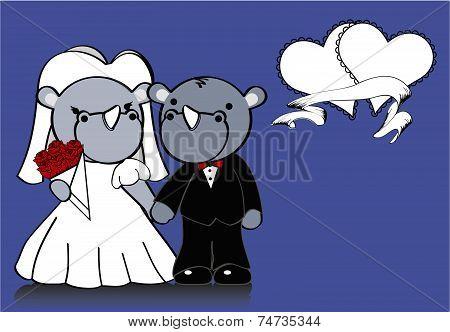 rhino married cartoon background