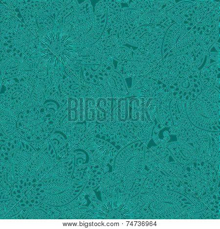 Teal Floral pattern