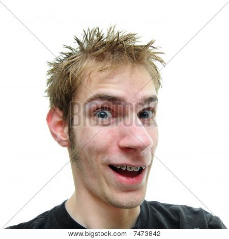 Dude Smiling With Mouth Open