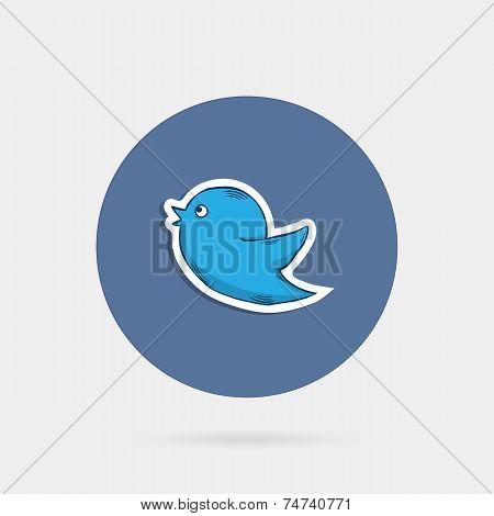 Blue doddle  bird