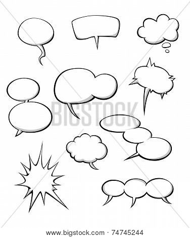 Cartoon dialog clouds