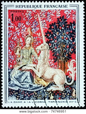 Unicorne Stamp