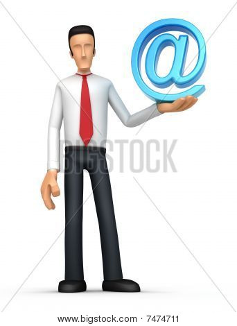 Businessman With E-mail