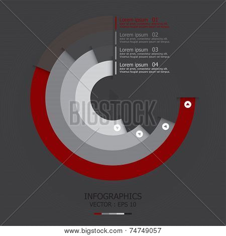 Modern Curve Circle Business Infographic