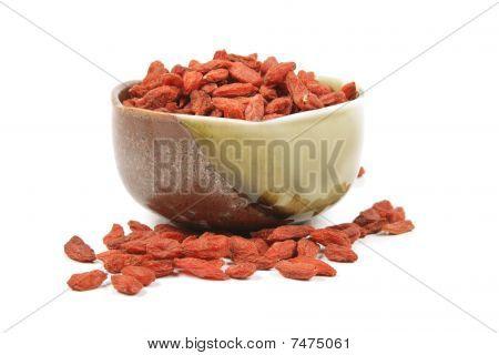 Goji Berries In A Dish