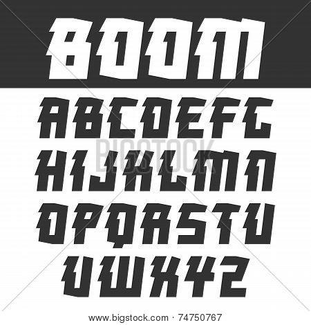 Sans Serif  Font For Headlines In Oriental Style