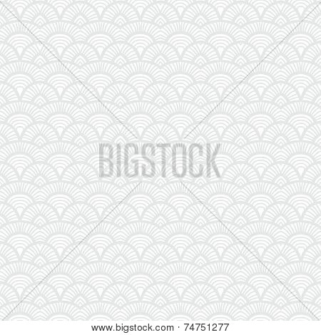White Vintage hand drawn art deco pattern