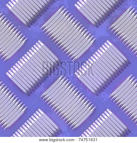 tileable diamond metal plate floor texture generated of computer