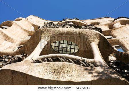Facade Of Cada Mila Or La Pedrera