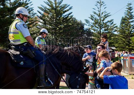Police horses meet the public