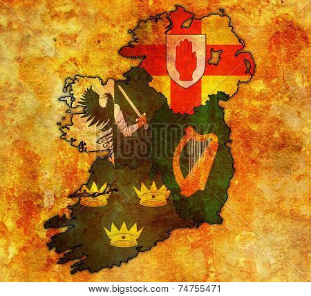 Provinces On Map Of Ireland