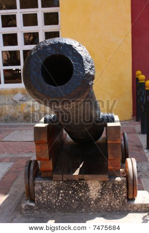 Cannon In Cartagena Wall