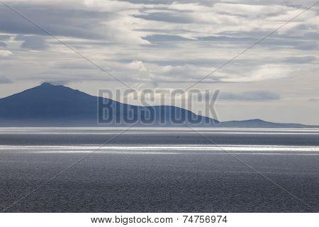 Sunset over far Island, Isle of Skye