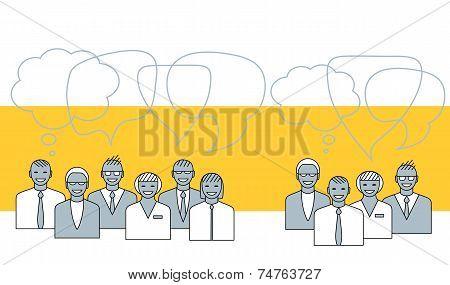 Business People Talking. Concept Illustration