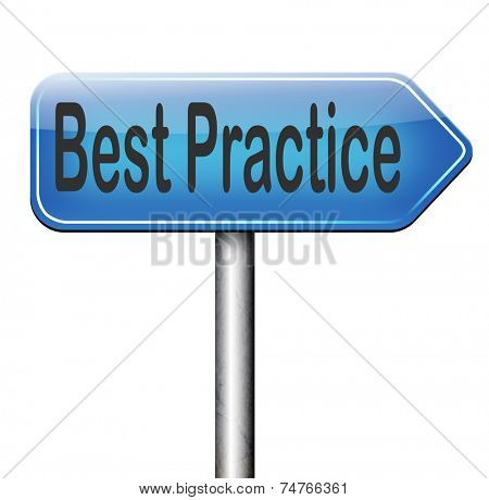 best practice good available technology used by strategic management road sign arrow
