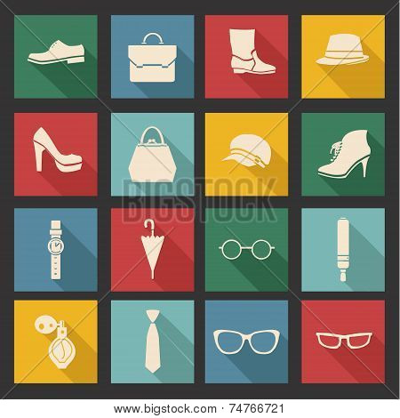 Vector Accessories Icon Set- Illustration