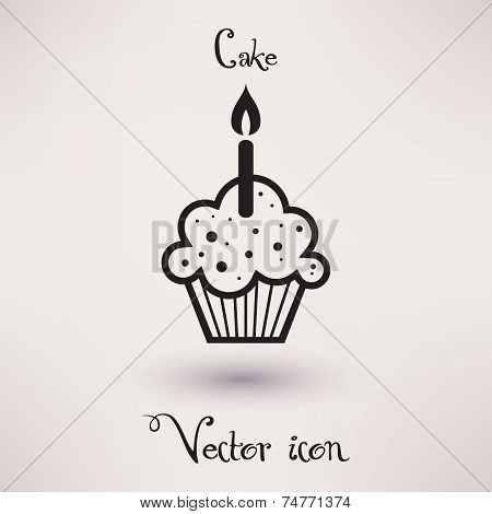 Pictograph of cake Vector icon Template for your design.
