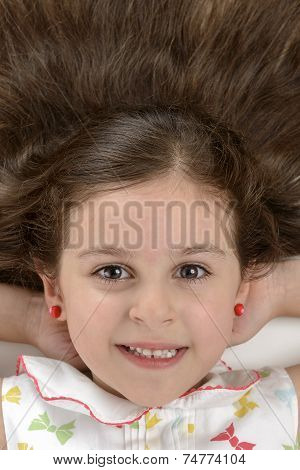 Portrait Of Beautiful Girl Beautiful Hair