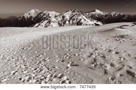 Mountain Scenic Of Snow