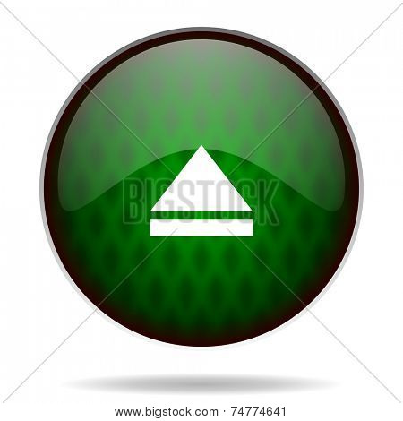 eject green internet icon