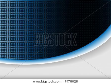 Abstract background blue glow